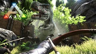 ARK: Survival Evolved - BUILDING OUR BASE!! (ARK Ragnarok Gameplay)