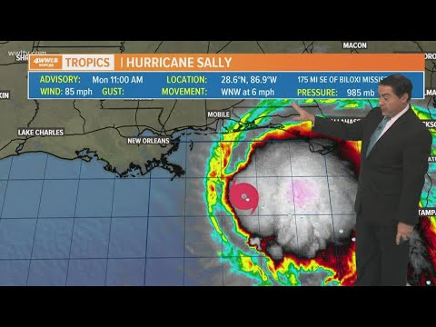 Hurricane Sally forms: track, models and latest forecast Monday at 11 am