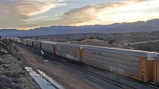Trains and Stunning Desert Sunrise