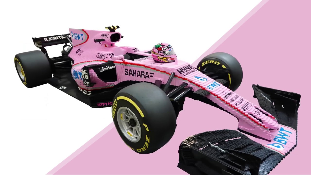Life-Size LEGO Brick Force India F1 Car!
