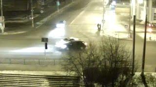 Столкновение легкового авто и внедорожника. Виновник не дождался приезда полиции.