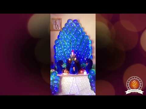 Prashant Kane Home Ganpati Decoration Video