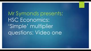 How do you calculate the simple multiplier? Part one