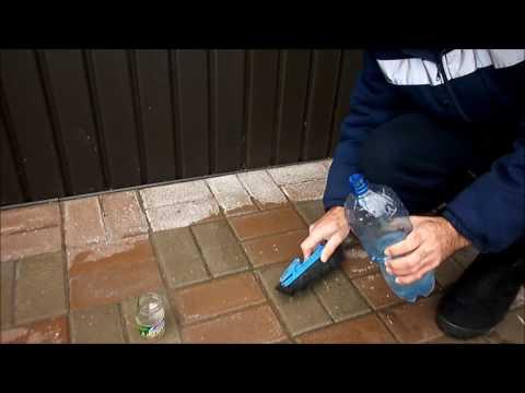 Как очистить тротуарную плитку от цемента - проводим эксперимент