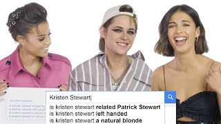 Kristen Stewart, Naomi Scott, and Ella Balinska Answer the Web's Most Searched Questions | WIRED