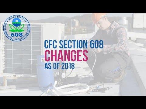 EPA 608 CFC Changes 2018 2019 - YouTube