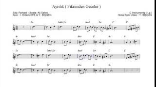 Nota Akor Eşlik - Ayrılık ( Fikrinden Geceler ) - C Instruments ( La )