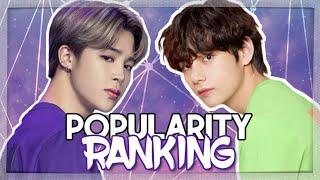 BTS    POPULARITY RANKING 2019