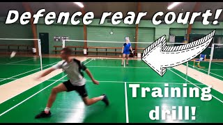 DEFENCE REAR CORNERS - BADMINTON EXERCISE #88 , tutorial