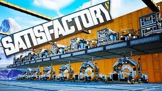 Mega Factory Steel Beam Construction in Satisfactory