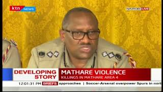 Police Commander-Japheth Koome's full speech on the security situation in Mathare