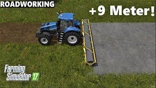 Farming Simulator 17   ROADWORK   +9 METER ASPHALT LAYING
