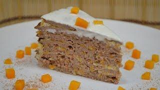 Смотреть онлайн Пошаговый рецепт печеночного торта с тыквой