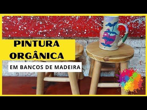 Pintura orgânica em bancos