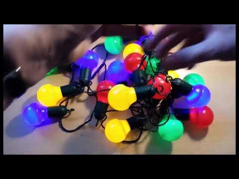 Outdoor LED Lichterkette 20 Lampen Farbe : BUNT mit Befestigungshaken  Party