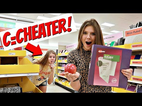 *VANESSA CHEATED* Buying School Supplies in Alphabetical Order |Taylor & Vanessa