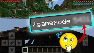 How to get gamemode 3 in minecraft pe