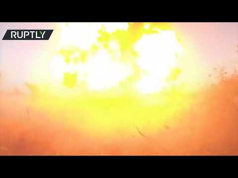 Russian sappers blow up a WWII ammunition cache in the Rostov region