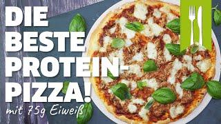 Die leckerste Proteinpizza - über 75g Eiweiß!