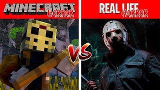 Minecraft HORROR VS REAL LIFE HORROR!! Minecraft Vs Real Life