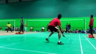 Chakravyuh 2.0 badminton men singles finals(Satish vs Krishna )