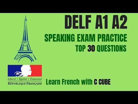 French DELF A1 A2 Speaking Exam Test Practice Top 30 Questions ...