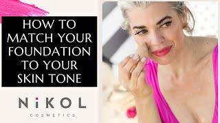 HOW TO MATCH YOUR FOUNDATION TO YOUR SKIN TONE | Nikol Johnson