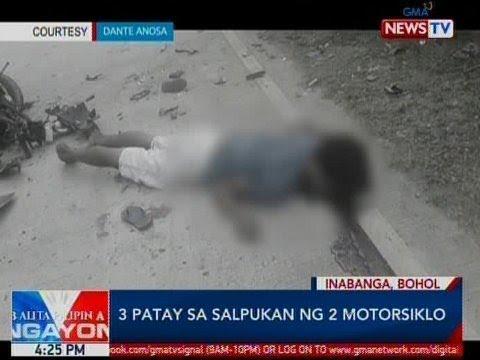 BP: 3 patay sa salpukan ng 2 motorsiklo sa Bohol