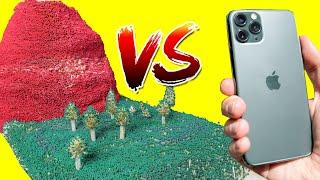 iPhone 11 Pro vs 150,000 Match Volcano -  VOLCANO ERUPTION
