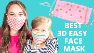 *BEST* Breathable 3D Face Mask | EASY FREE Sewing Face Mask Pattern | Sweet Red Poppy