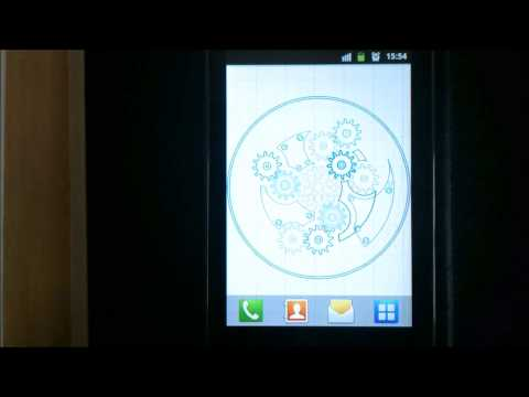 Video of Clock Blueprint Wallpaper