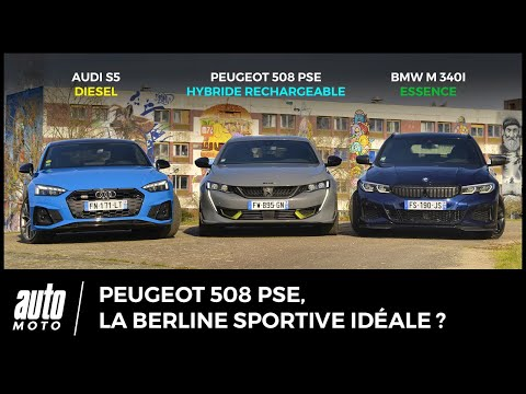 La Peugeot 508 PSE face aux Audi S5 Sportback et BMW M340i Touring