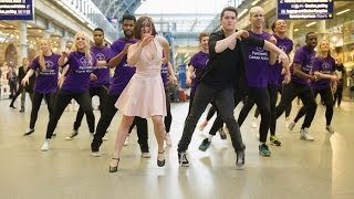 'St Pancreas' For One Day Flash Mob   #DanceForSurvival   St Pancras International 11th March