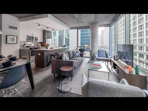 A -12 2-bedroom, 2-bath model at the Loop's new Parkline Chicago