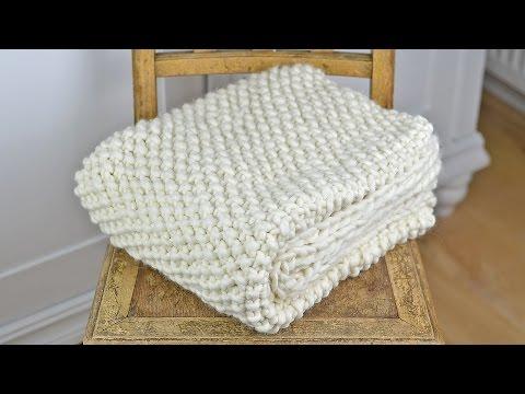 Wolldecke/Plaid/Blanket stricken - Vorstellung eines Strickkit  von