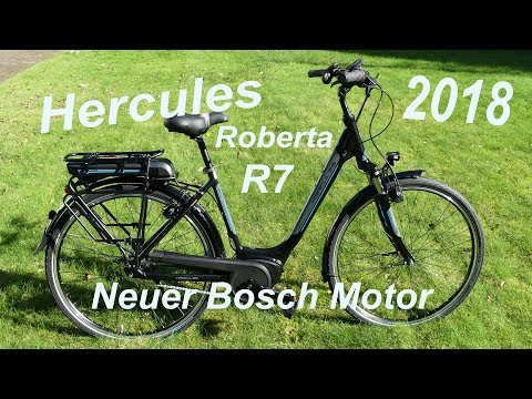Hercules E-Bike Roberta R7, Modell 2018 mit neuem Bosch Motor