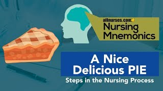 View the video Nursing Mnemonics: A Nice Delicious PIE - Steps in the Nursing Process