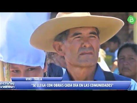 Presidente Evo Morales Entrega de sistema de Micro Riego en Entre Rios Tarija Bolivia