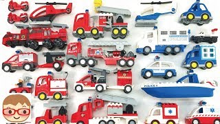 Emergency Vehicles for kids   Police Car, Fire Truck, Ambulance for children   toy car assembly
