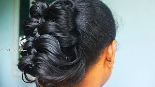 DIY messy Bun Hair Style |  How to make Bun Hairstyle with PENCIL | Hairstyles for Girls