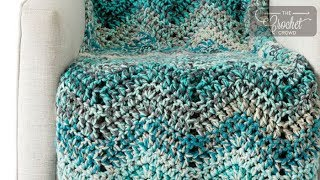 Crochet Chunky Waves Afghan Pattern