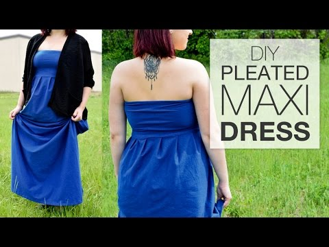 DIY Pleated Maxi Dress