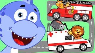Сборник развивающих мультиков для малышей: Паучок, Экскаватор, Динозавр. Мультфильмы для детей