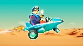 Дима отправился в путешествие на самолёте | Дима и Машинки