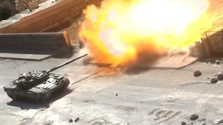 ᴴᴰ Tanks with GoPro's™ , get destroyed in Jobar Syria ♦ subtitles ♦