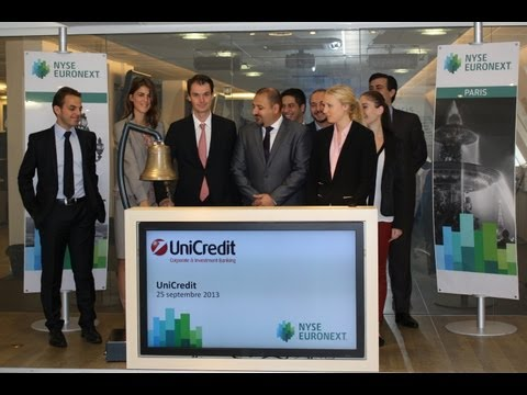 UniCredit Warrants & Certificates Team Rings Opening Bell NYSE Euronext Paris