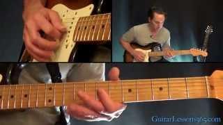 Hey Joe Guitar Lesson - Jimi Hendrix - Chords/Rhythms