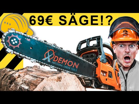 69€ - BILLIGSTE KETTENSÄGE von AMAZON im TEST | Werkzeug News #42