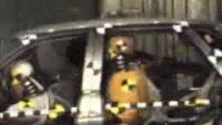 crash test lada 2110 with 4 men and 1 child