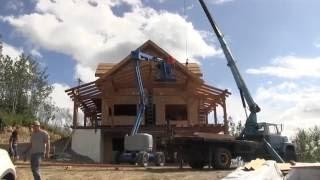 Download Youtube: Timber Framed Covered Decks - Owner Building a Home in Alaska EP16